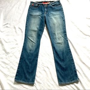 GUESS Frayed Waist Faded Blue Jeans Flare Sz29x32